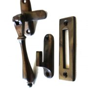 Lovely Bronze Aged Window Casement Lock latch Round Handle
