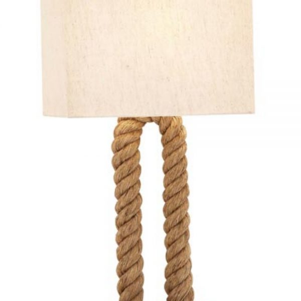Nautical Rope Table Lamp Light Fixture for End or Side Furniture with Shade Included