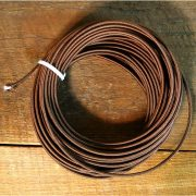 50 Foot Roll of Brown Rayon Cloth Covered Wire Lamp Parts