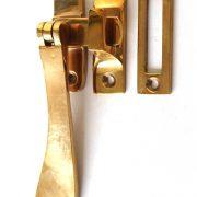 Lovely Brass Window Casement Lock Latch Set with Flat Handle AGED Darkened Finish