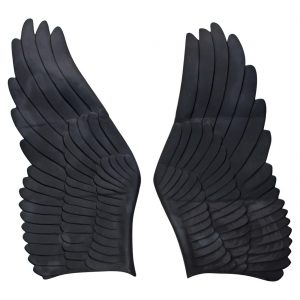Giant Pair of Themed Angel Cherub Fairy Metal Wings Gold Black Any Paint Color