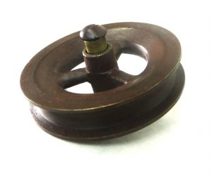 Small Bronze Pulleys Pair of Painted Solid Brass for Lamp Parts Crafts