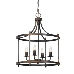 The Virginia Round Chandelier Kitchen or Hall Light – The Kings Bay