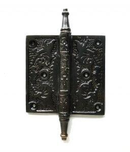 Victorian Motif Design 4″ Solid Brass Door Hinge Rare Quality New Hardware DARKENED Bronze