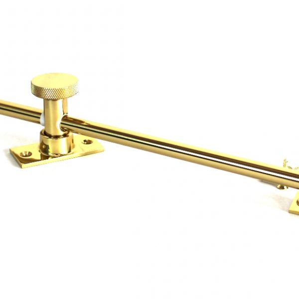 Casement Window Stay – Lid Stay 9″ Arm – Antique Reproduction Solid Brass