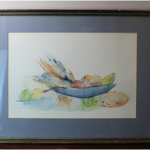 Louise Harper Listed Artist Watercolor Still Life Signed Original Painting