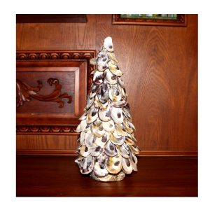 Oyster Shell Pine Tree for Lovely Home Decor or Christmas Holiday Nautical
