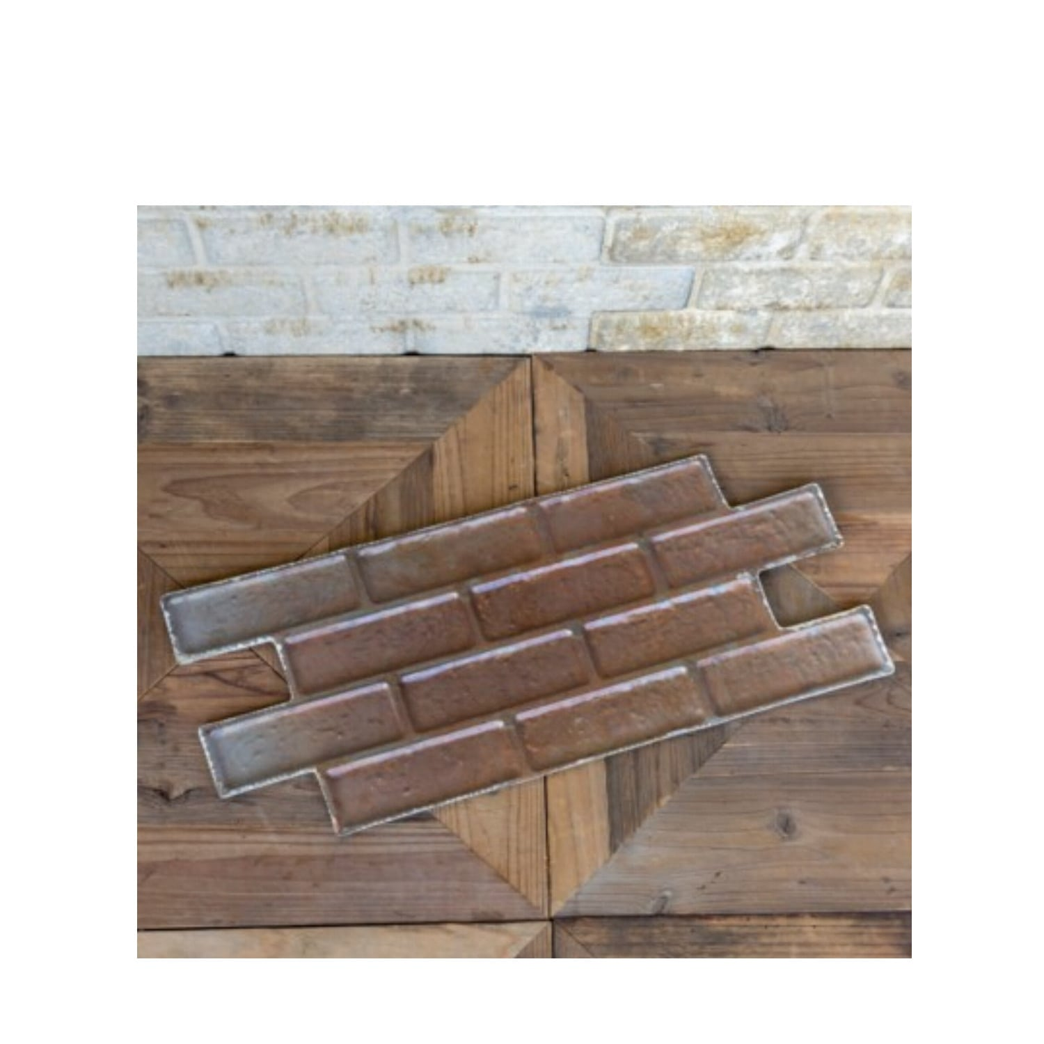 Brick Shaped Stamped Pressed Tin Antique Style Wall Ceiling Panels