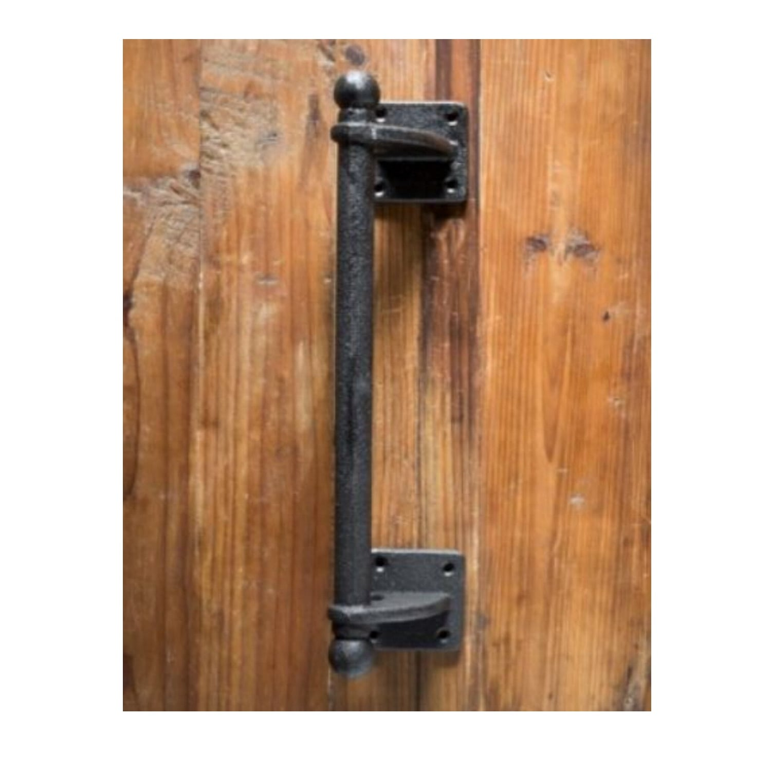 Commercial Cast Iron Door Pull With Offset Construction Sideways Or