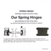 Double Action 4″ Spring Hinge Swings Both in and Outwards (Pair)