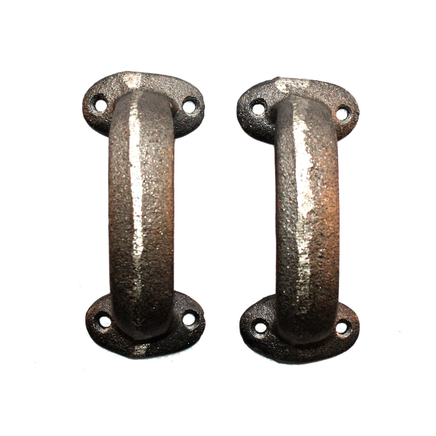 Pair Of Cast Iron Cabinet Hardware Pulls Antique Country Store Style ( PR )