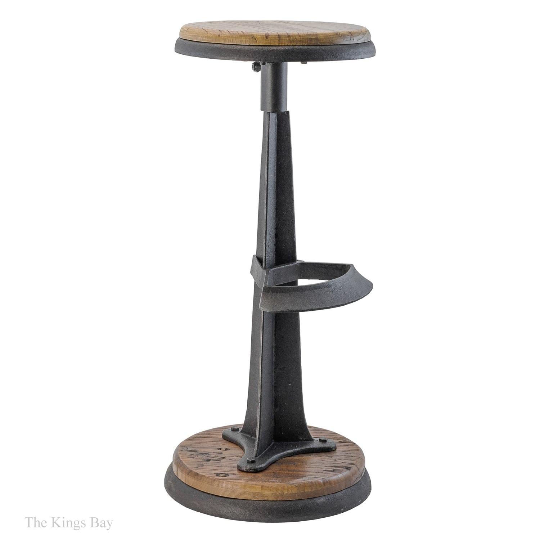 Astounding Industrial Bar Stool Antique Style Cast Iron And Wood For Restaurant Home Inzonedesignstudio Interior Chair Design Inzonedesignstudiocom
