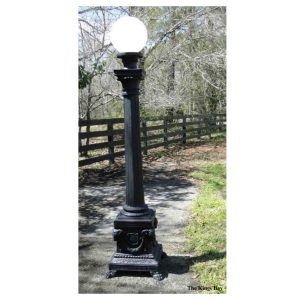 Commercial Outdoor – Home Tall Pole Light Victorian Style Presidential Rams Head