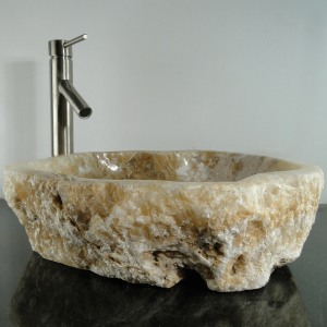 Onyx Marble Counter Top Vessel Basin Sink ONX84