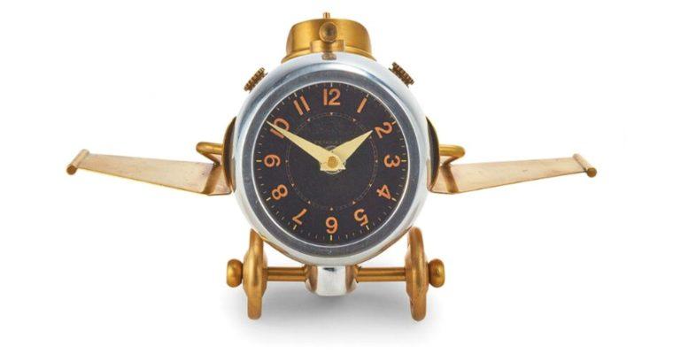 Thunderbolt Retro Airplane Clock For Desk or Home Pendulux