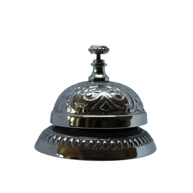 Nickel Victorian Style Service Desk Bell
