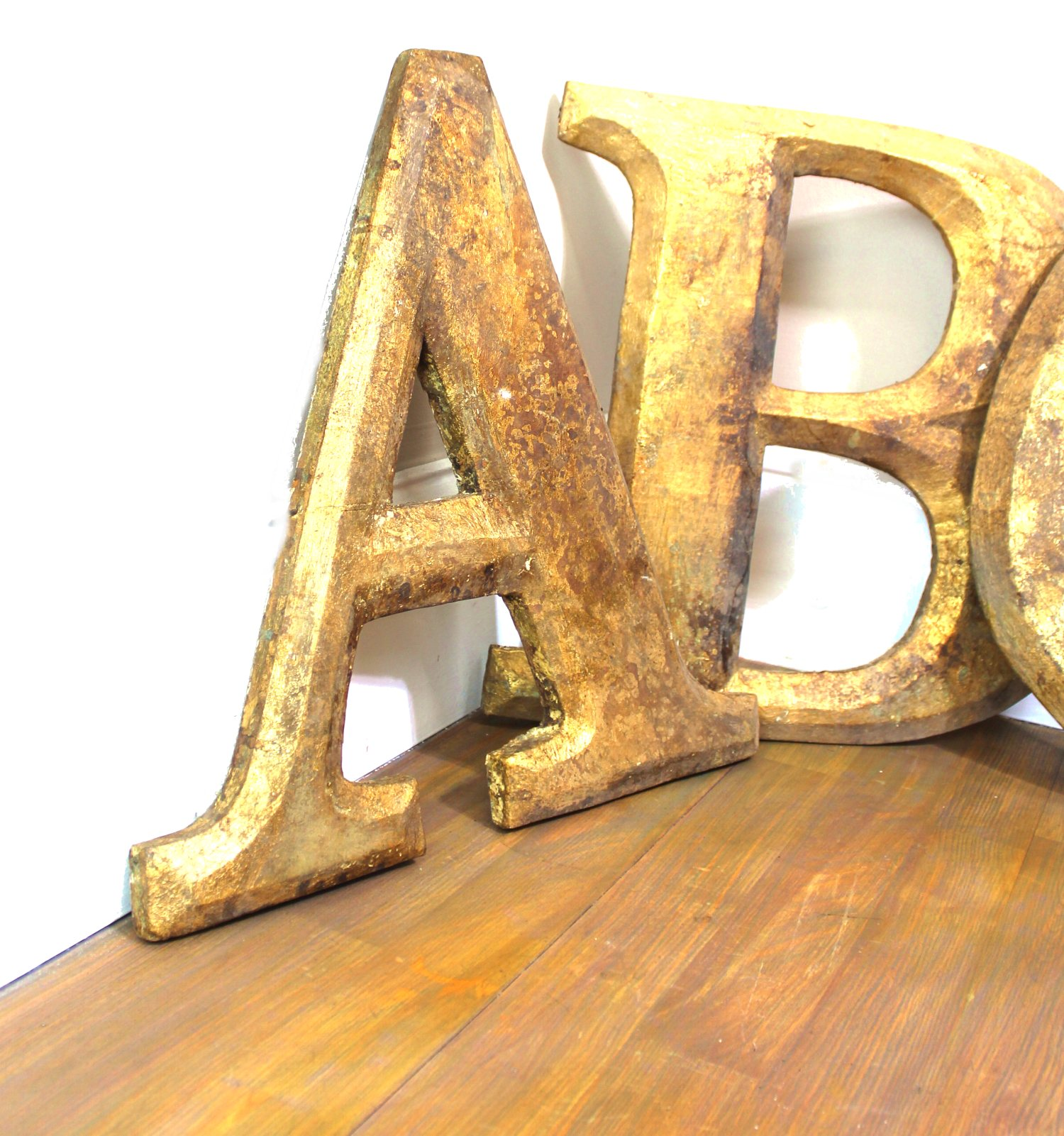 Pub Gold Leaf Wood Letters for Signs Wall Art Spell Anything Antique ...