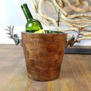 A teak ice bucket makes a great housewarming gift