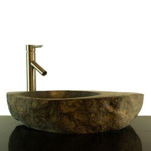 Big River Stone Vessel Sink with Tray Bar Bathroom Counter Top Deck RSTDD-03