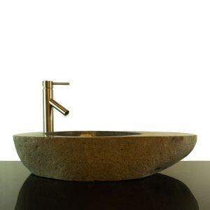 Big River Stone Vessel Sink with Tray Bar Bathroom Counter Top Deck RSTDD-06