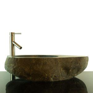 Big River Stone Vessel Sink with Tray Bar Bathroom Counter Top Deck RSTDD-04