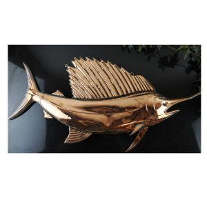 2nd Bent Copper Sail FISH Trade Sign Ocean Sea Fishing Bill Seafood Sword