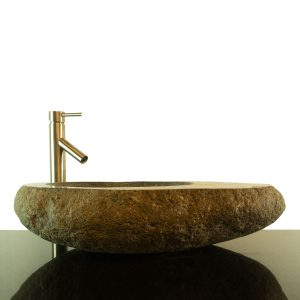 Big River Stone Vessel Sink with Tray Bar Bathroom Counter Top Deck RSTDD-02