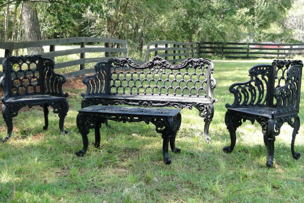 Buy Wrought Iron patio Furniture and benches
