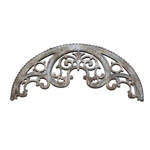 Country Window Arch Teester For Over Window Door of Bed Galvanized Antique Tin