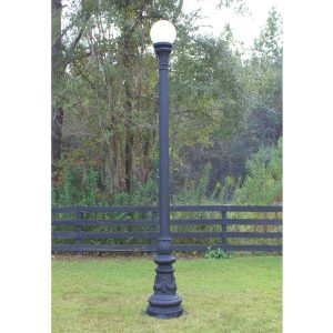 Giant Antique Replica Pole Light Vintage Style Non Rust Aluminum with Shade 122″
