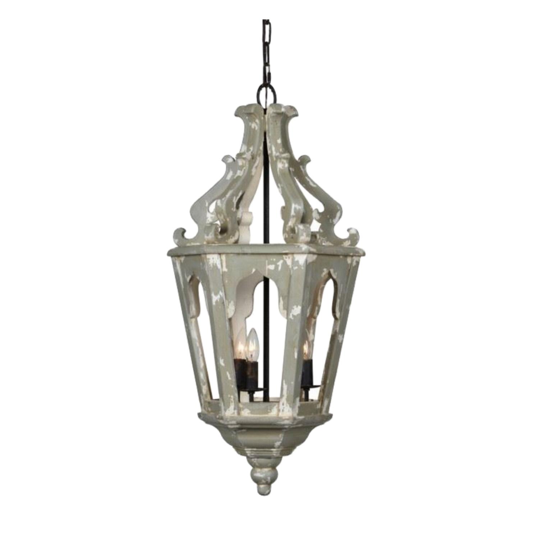 Halsey Wooden Lantern Chandelier For Hallway Or Foyer High Design Aesthetic 35