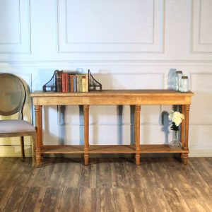 "Pine Buffet Side Table or Behind Couch Console Aged Wood The "" Barnby """