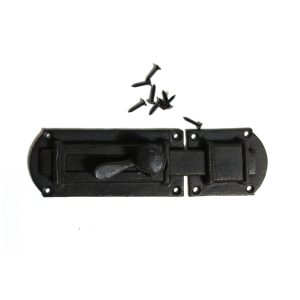 Cast Iron Slide Bolt Pantry Locking Surface Mounted with Pressure Lock