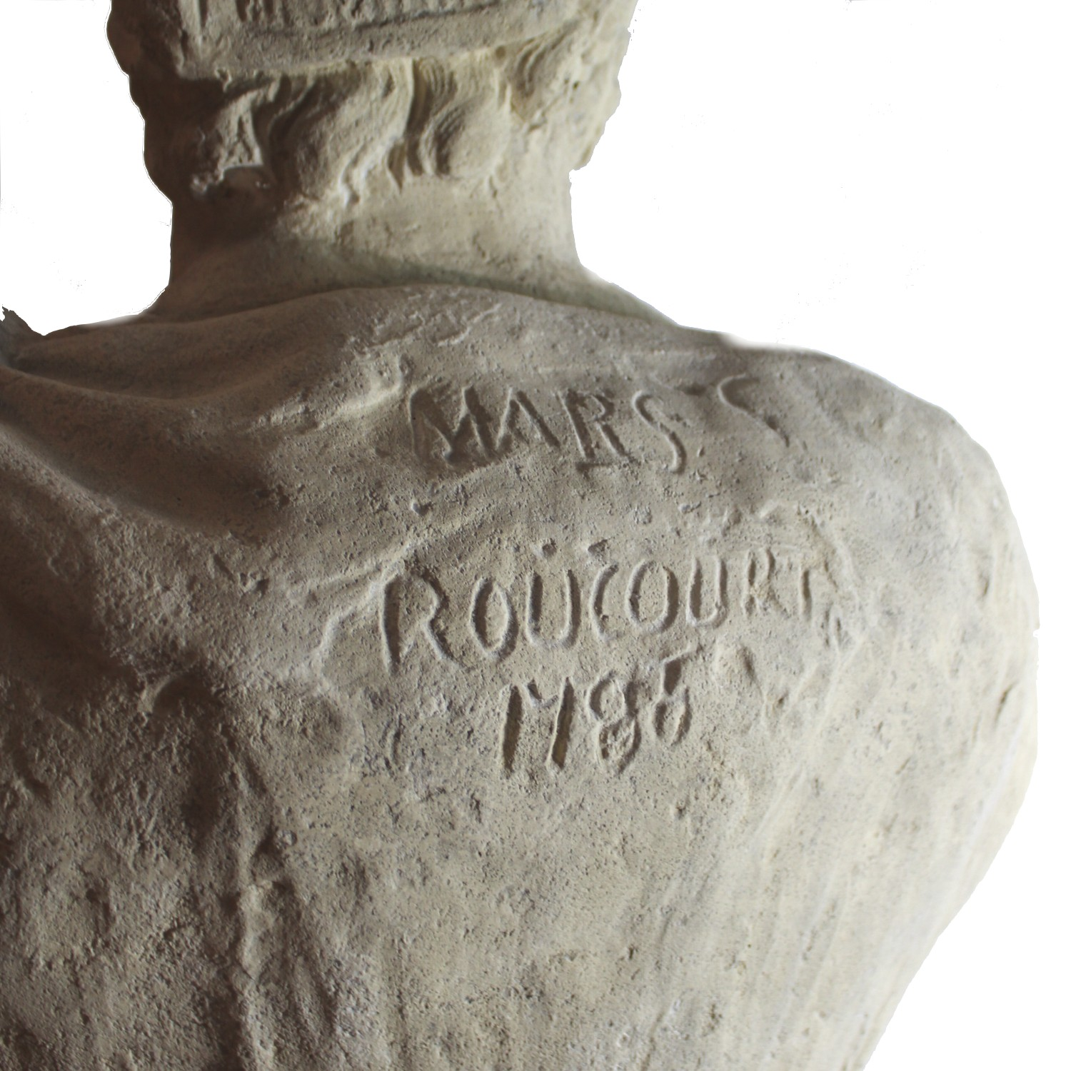 Mars Roman Bust Sculpture Faux Marble Statue God of War and Guardian of Rome