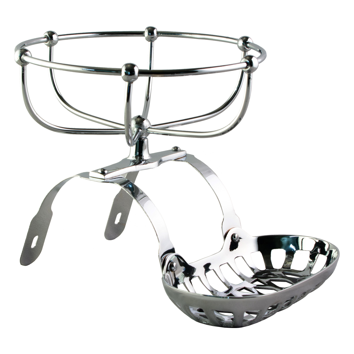Chrome Soap Sponge Holder Dish For Claw Foot Bath Tub Antique Style The Kings Bay