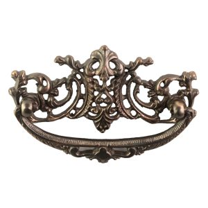 Vintage Victorian Style Cabinet Pull High Relief Bronze Age Finish
