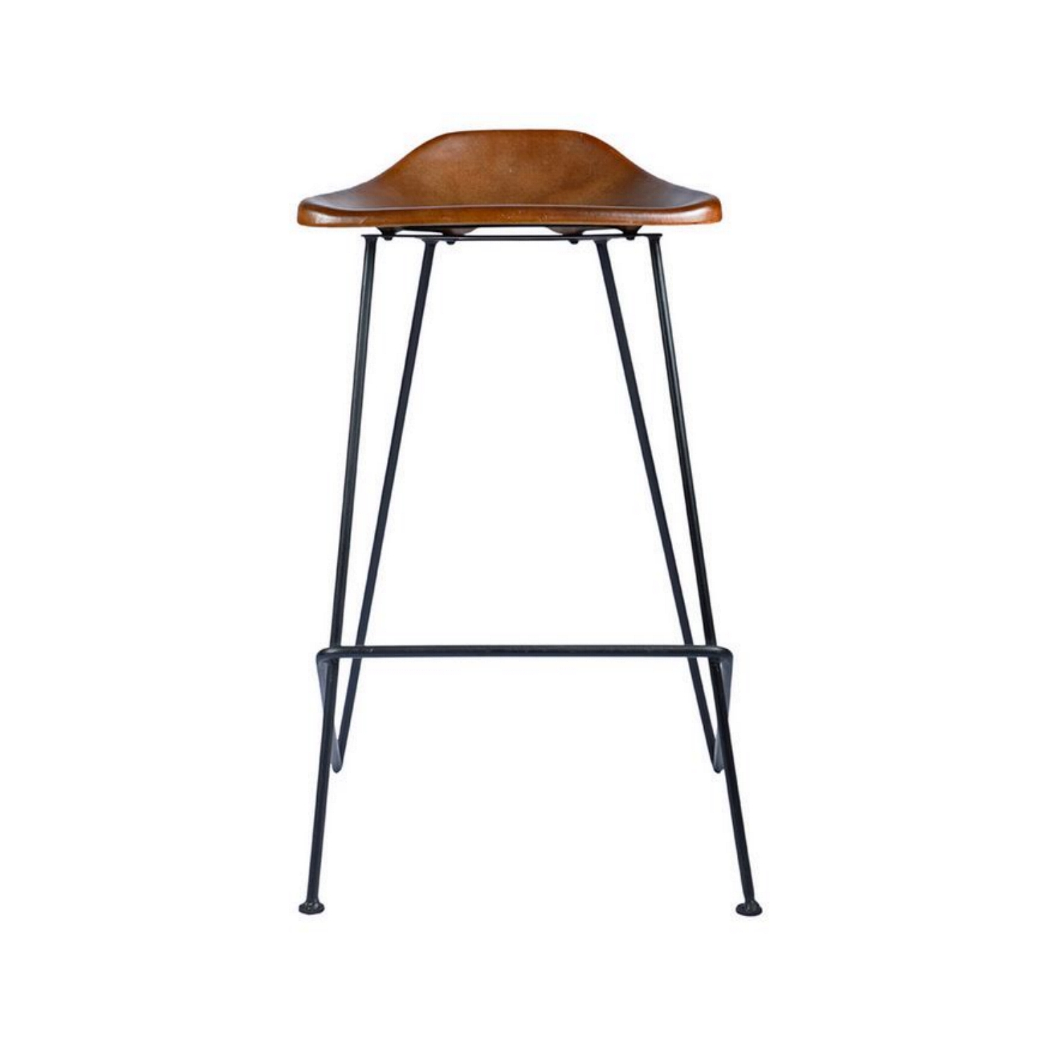 Super Tack Shop Kitchen Counter Height Bar Stool Black Metal And Leather Sold In Pairs Creativecarmelina Interior Chair Design Creativecarmelinacom