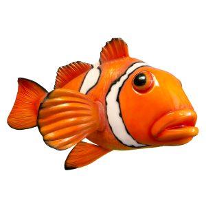 Giant Clown Fish for Aquarium Restaurant or Home Nemo Hand Made Sculpture