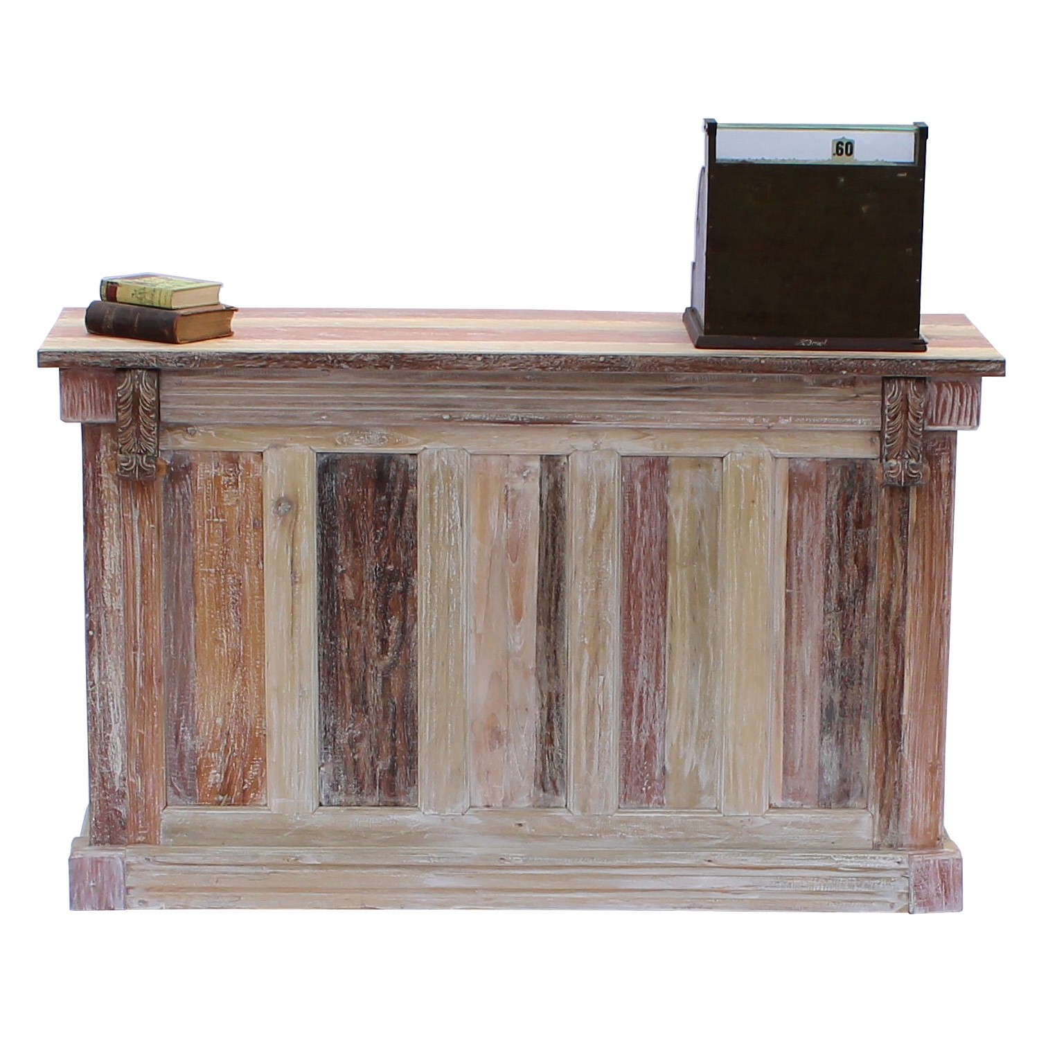 Store Counter Or Home Bar Aged White Wash Repurposed Wood Six Foot
