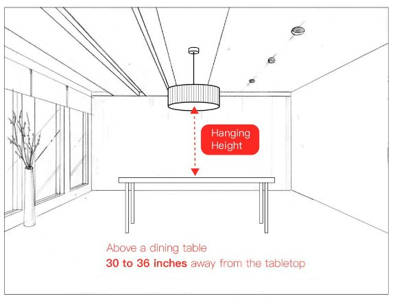 Chandelier Height Guide