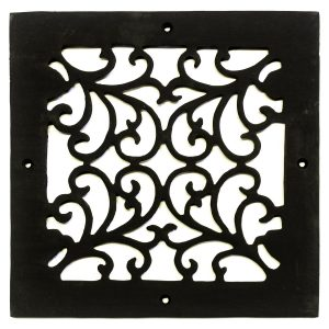 Square Register Iron Heating Vent Grate Decorative Botanical Design