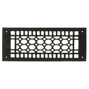 Rectangular Register Wrought Iron Floor Grate Heating Vent Honeycomb Pattern