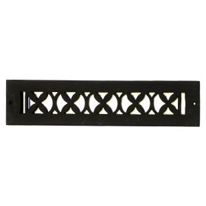 Rectangular Register Wrought Iron Floor Grate Heating Vent Floral Design