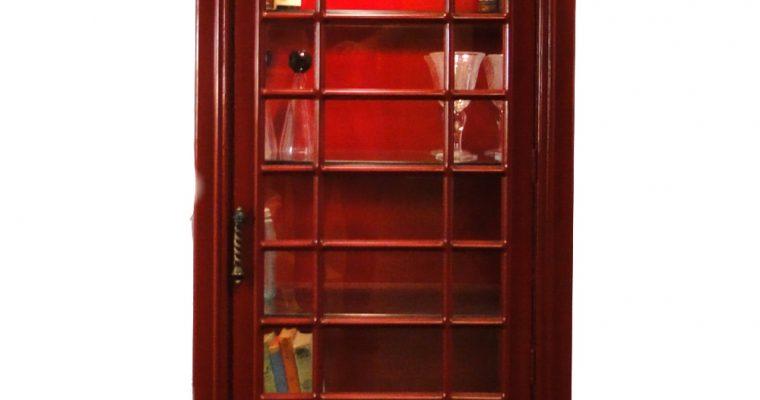 "English British Telephone <mark class=""searchwp-highlight"">Phone Booth</mark> Shelf Unit Red Antique Style Wine Bar Box"
