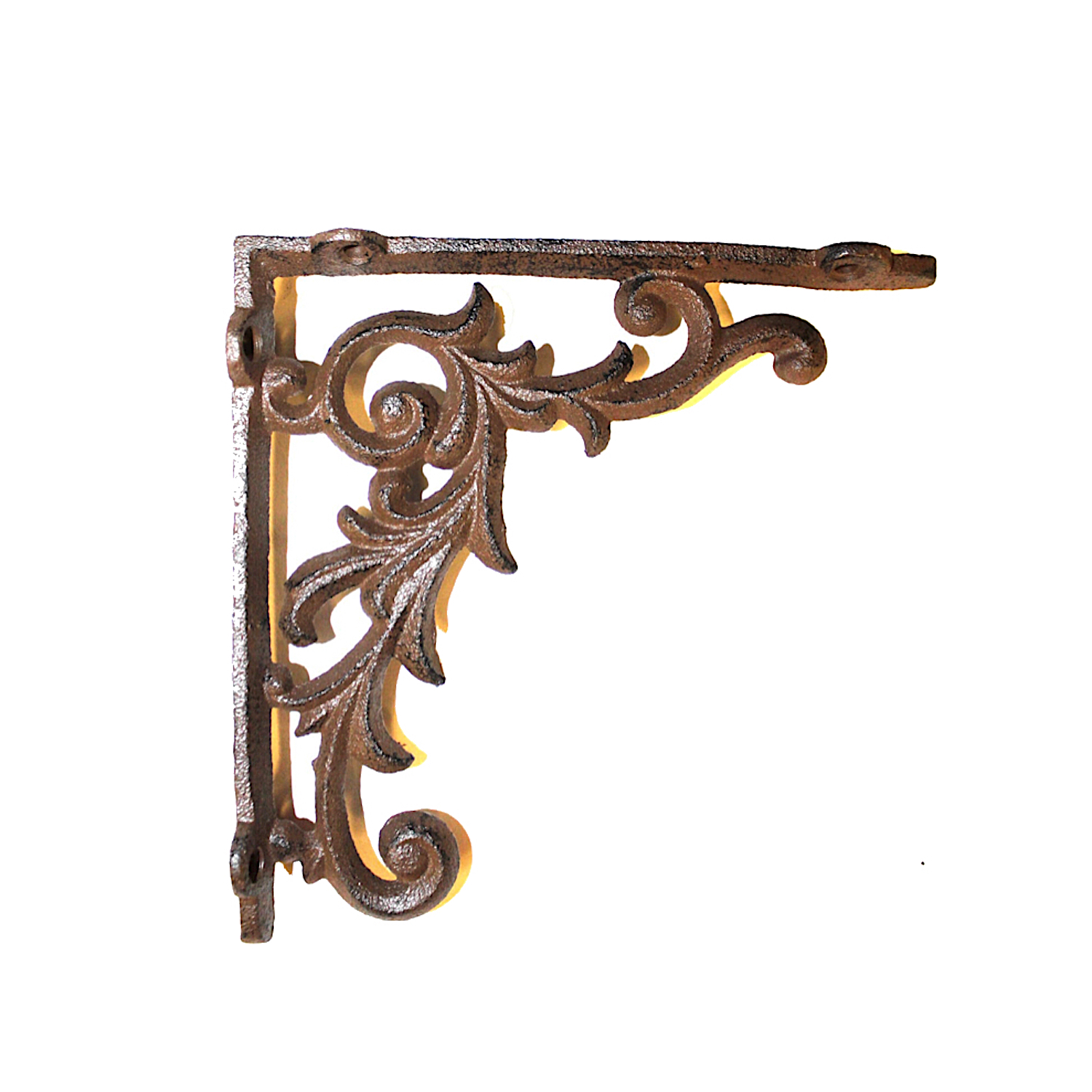 A PAIR OF ANTIQUE STYLE SMALL HAMMERED IRON BRACKETS CAST IRON SHELF BRACKET Architectural & Garden Antiques