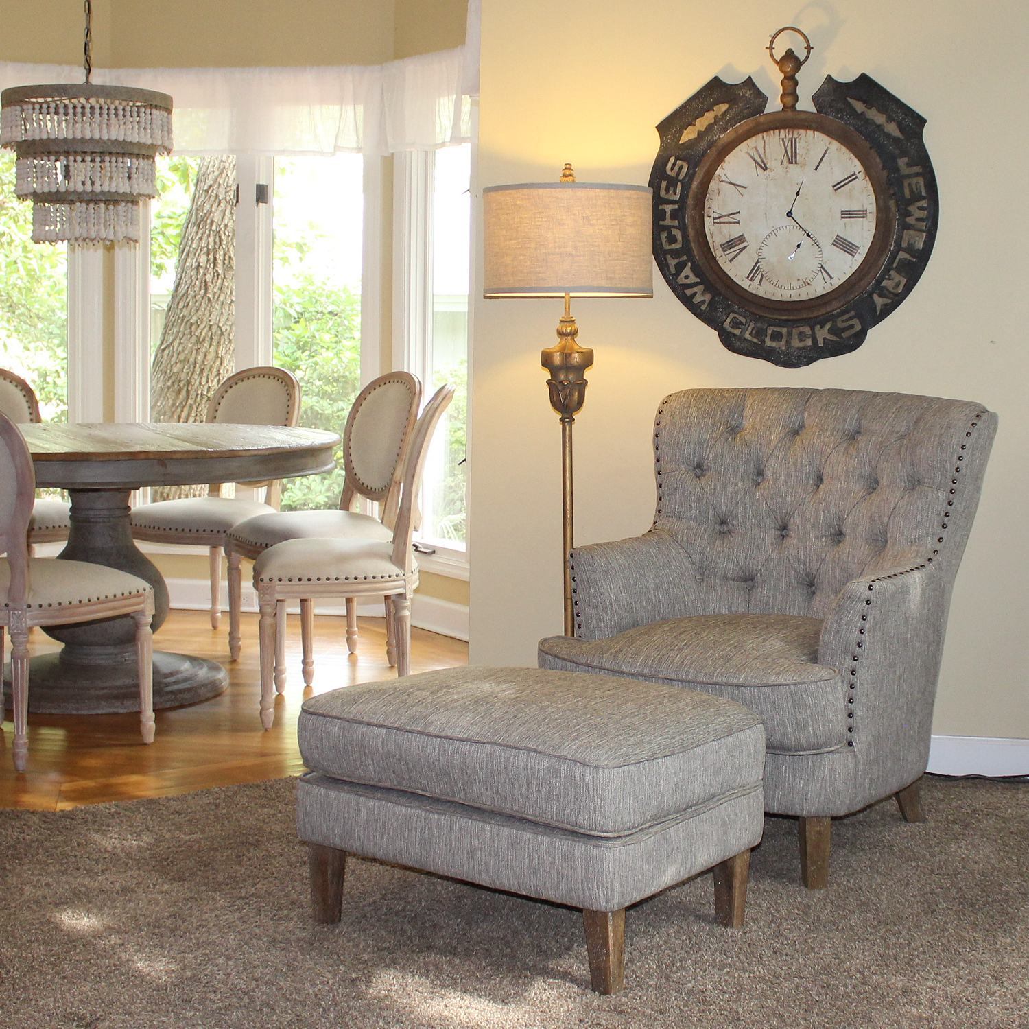 Strange Club Chair With Ottoman In Grey And White Torrey Linen Arm Chair With Foot Rest Dailytribune Chair Design For Home Dailytribuneorg