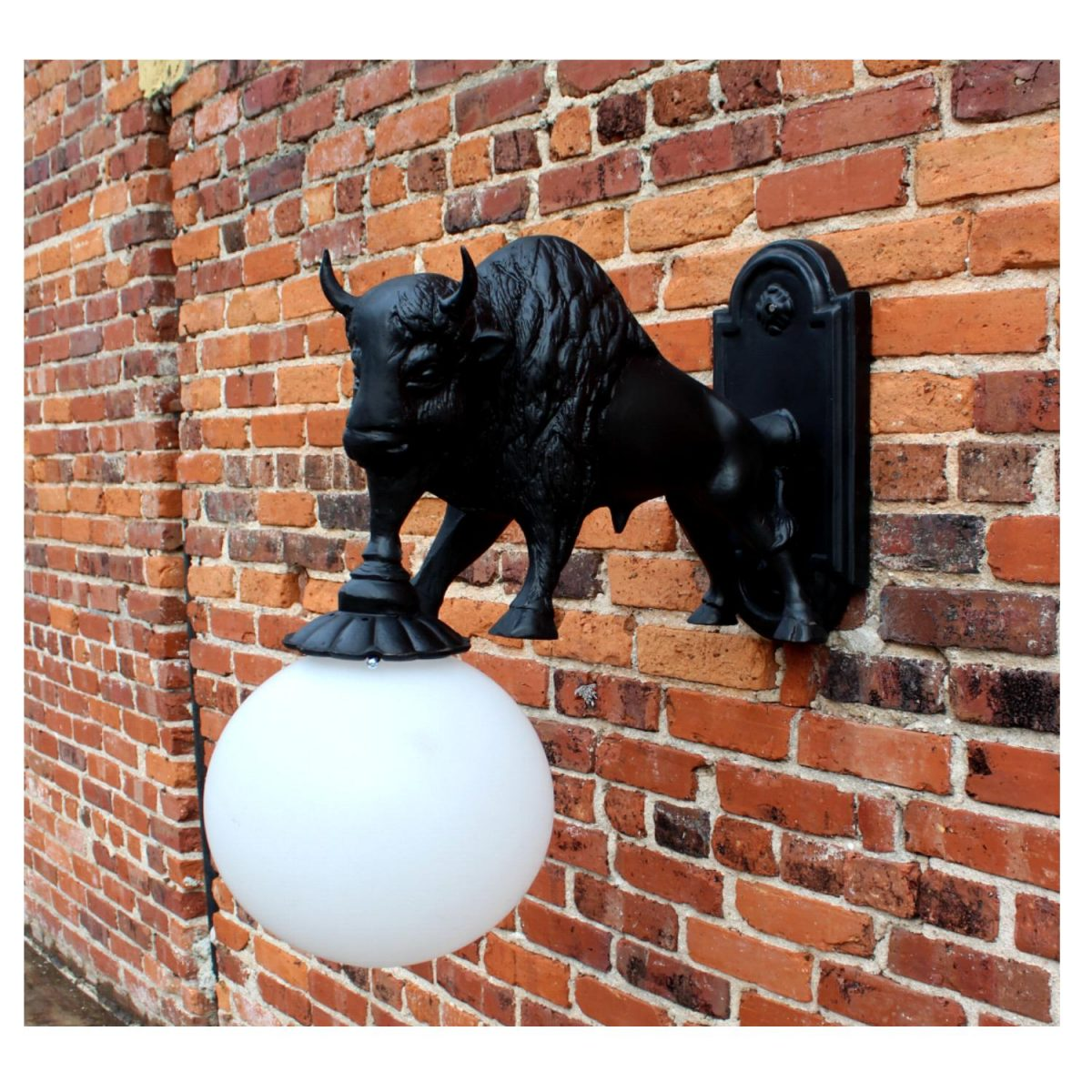 Wall Mount Buffalo Sconce Light Indoor Outdoor Non Rust ... on Non Lighting Sconces id=29593