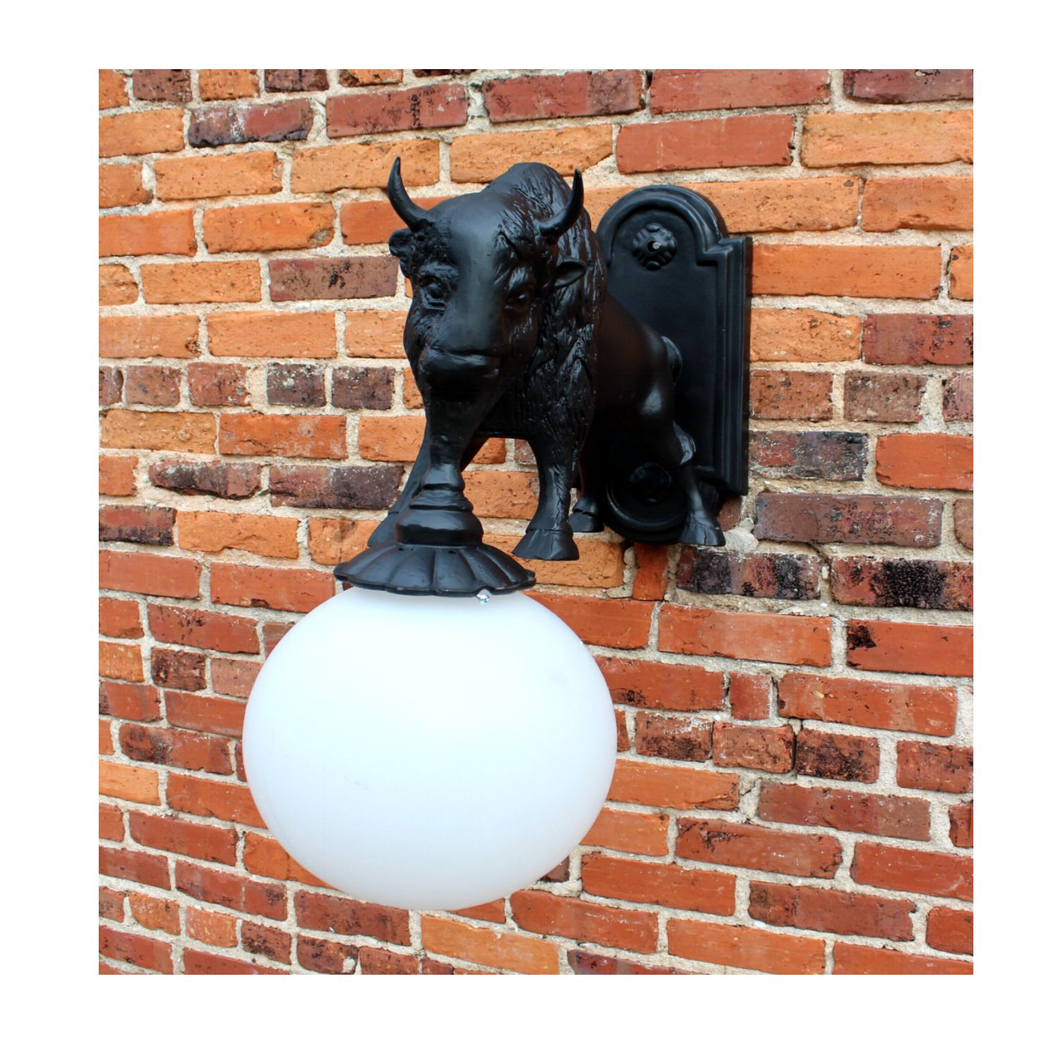 Wall Mount Buffalo Sconce Light Indoor Outdoor Non Rust ... on Non Lighting Sconces id=42829