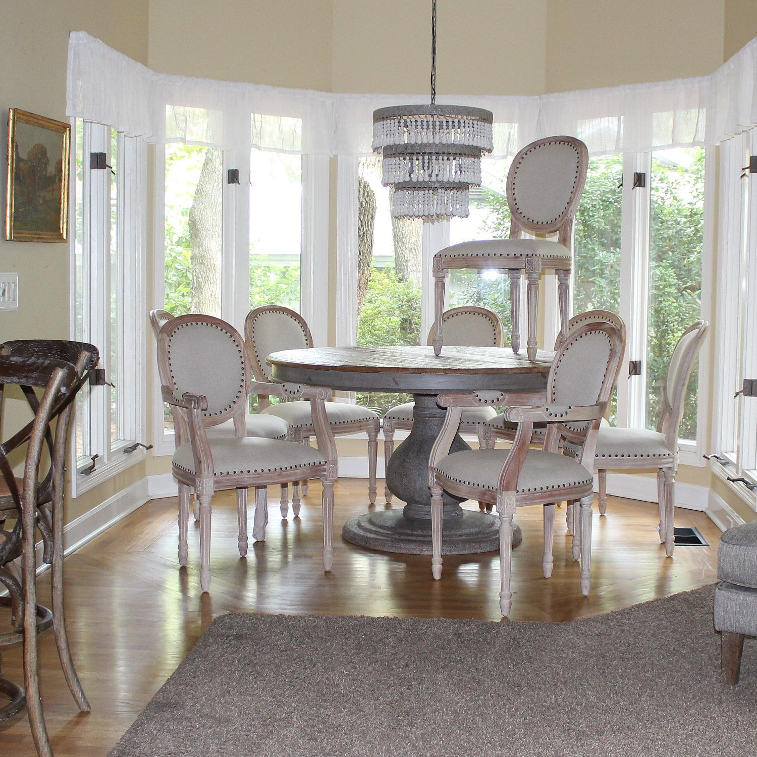 Set Dining Room Chairs Two Arm And Six