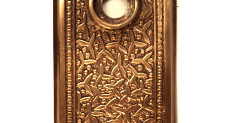 Door Passage Set with Rice Pattern Brass Hardware for Restoration